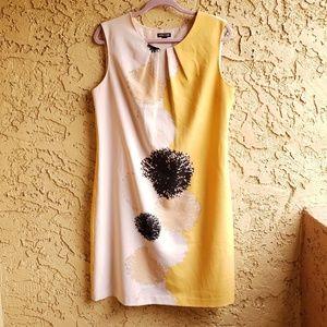 Voir Voir mustard and tan shell dress size 12